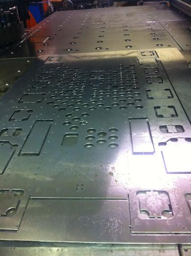 Sheet metal just out of the laser