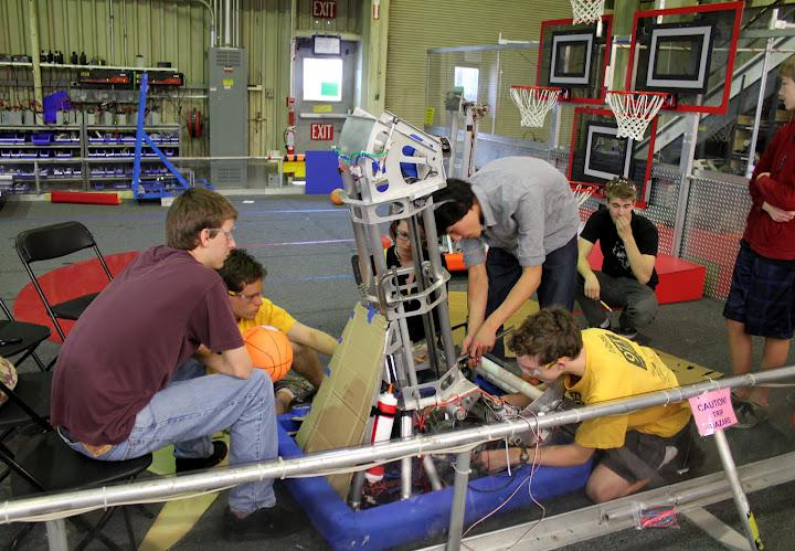 Working on the robot at NASA