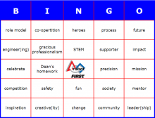 FIRST Robotics Kickoff Buzzword Bingo
